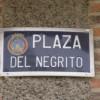 Plaza del Negrito de Lorca (Murcia). Una plaza con poema.