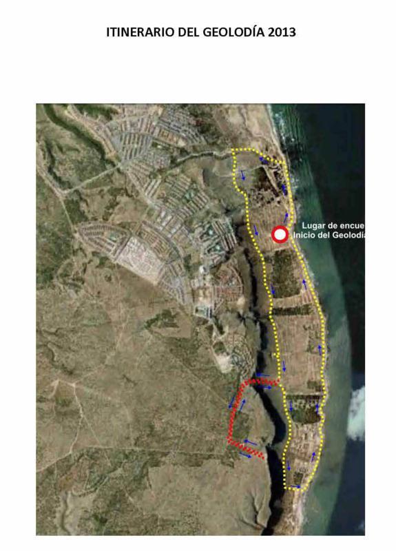 Mapa Santa Pola con itinerario_575x800
