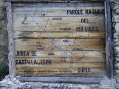 Cartel Cañón Río Lobos