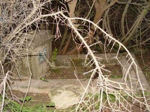 Restos de una de las tumbas en el Cementerio de los ingleses (Denia) 3_500x375
