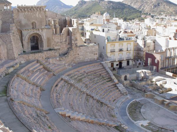 Catedral Vieja y Grada del Teatro Romano de Cartagena