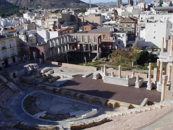 Frontal Escénico del Teatro Romano de Cartagena