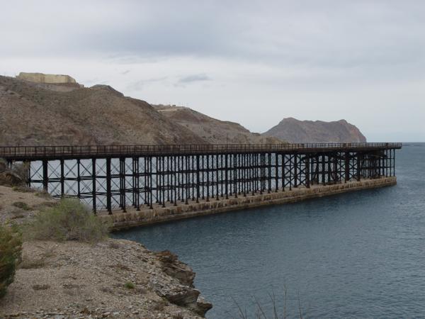 El embarcadero de El Hornillo de Águilas (Murcia)