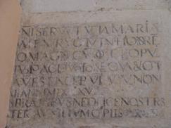 Inscripción del inicio del templo de la actual iglesia parroquial_243x182