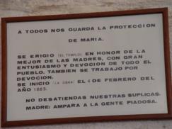 Traducción de la inscripción del inicio del templo de la actual iglesia parroquial_243x182