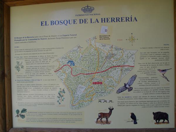 Cartel El Bosque de la Herrería en la Ermita de la Virgen de Gracia (El Escorial)_600x450