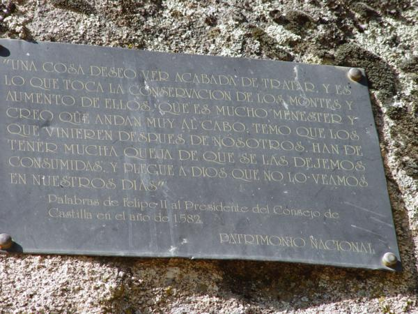 Palabras de Felipe II en la base de la Silla de Felipe II_600x450