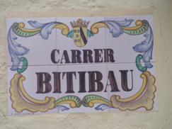 Cartel de la calle de Bitibau (Denia)_243x182