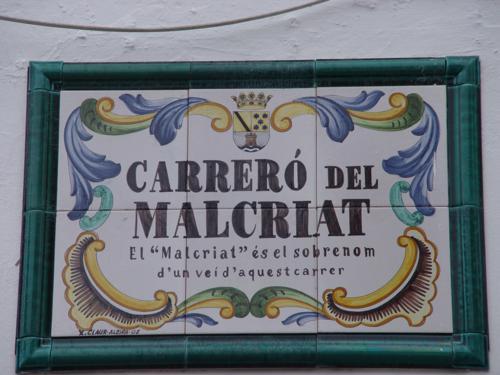 Cartel del Carreró del Malcriat (Denia)_500x375