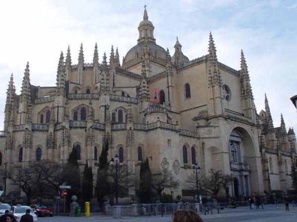 Vista delantera de la Catedral de Segovia_600x450