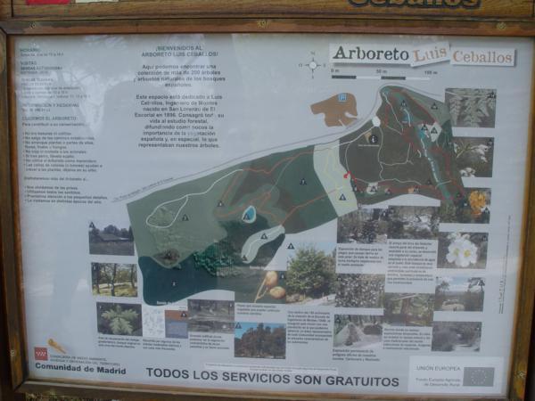 Cartel con plano de Arboreto Luis Ceballos_600x450