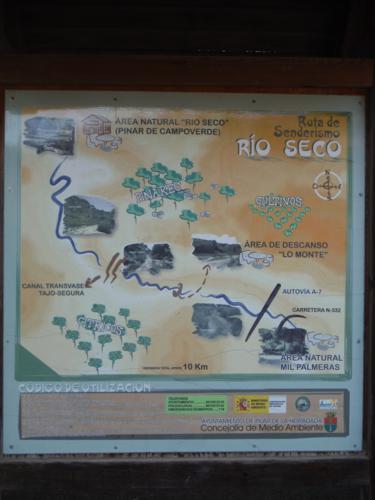 Cartel de Ruta de Senderismo Río Seco_375x500