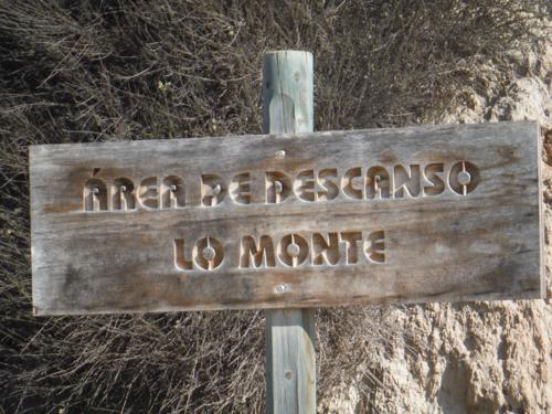 Cartel del Área de descanso Lo Monte_500x375