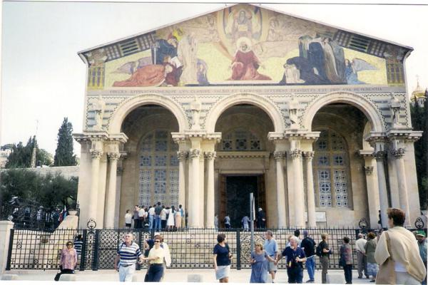 Iglesia de las Naciones, en la cercanía del Monte de los Olivos (Jerusalén)_600x400