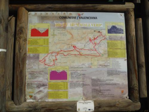 """Cartel de información de la ruta la PR-CV 181 """"Cavall verd""""_500x375"""