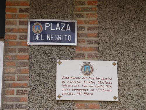 Cartel y placa de la plaza del Negrito_500x375