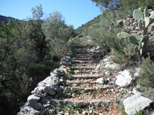 Inicio de la subida desde el lecho del río Girona_500x375