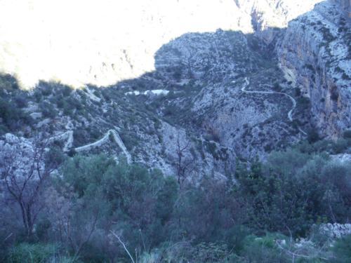 Vista de la ruta que atraviesa el Barranc de Salt_500x375
