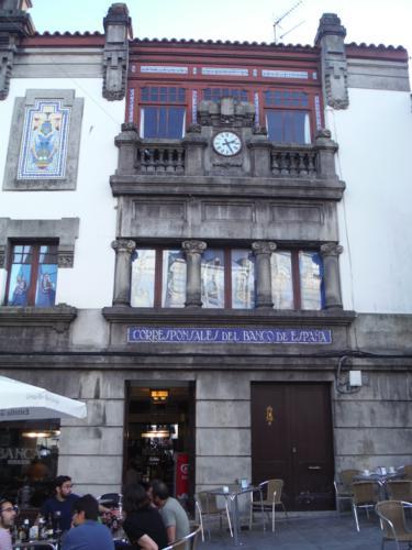 Antiguo edificio de Corresponsales del Banco de España. De Pontedeume a Betanzos