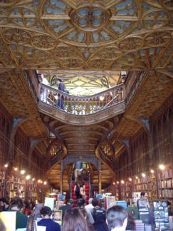 Escalero de la Librería Lello (Oporto)