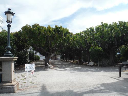 Camino de Santiago inglés. Jardín delante del Palacio de la Capitanía (Ferrol)