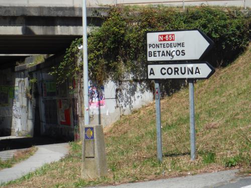 De Ferrol a Pontedeume. Lugar donde se separan los dos caminos del Camino Inglés_500x375