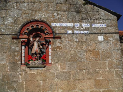 Parroquia de San Pelayo de Buscas. De Hospital de Bruma a Sigüeiro