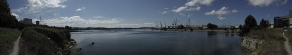 De Ferrol a Pontedeume. Vista de la ría desde la Avenida del Mar_600x113