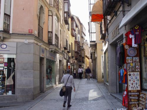Calle del hombre de Palo. hombre de Palo de Toledo