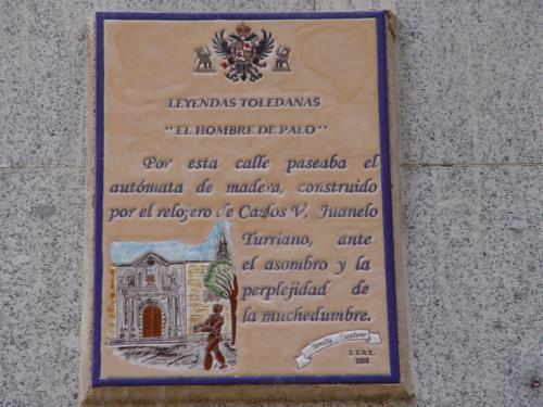 Historia en cartel de la Calle del hombre de Palo. hombre de Palo de Toledo