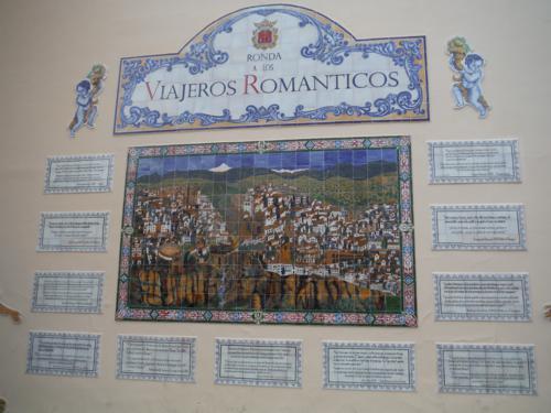 Cerámica a los viajeros románticos de Ronda (Málaga)